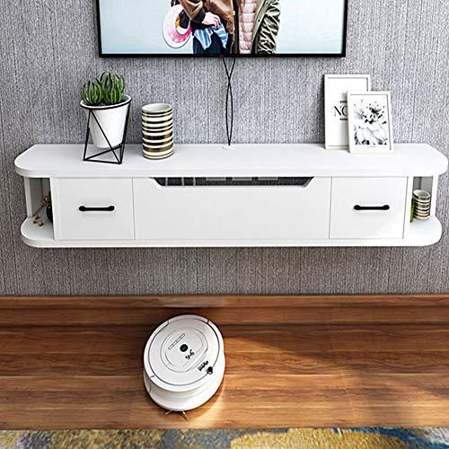 SXFYZCY TV-Wandschrank Wohnzimmer Schlafzimmer Einfacher hängender TV-Schrank Massivholz, Länge 150cm * Breite 24cm * Höhe 20cm
