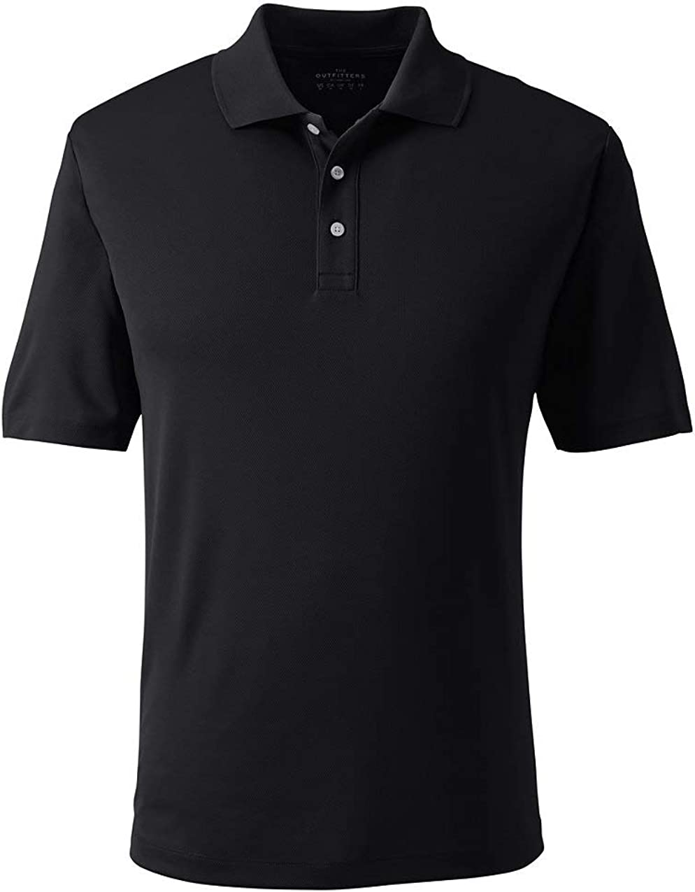 Lands' End Men's Short Sleeve Solid Active Polo Shirt
