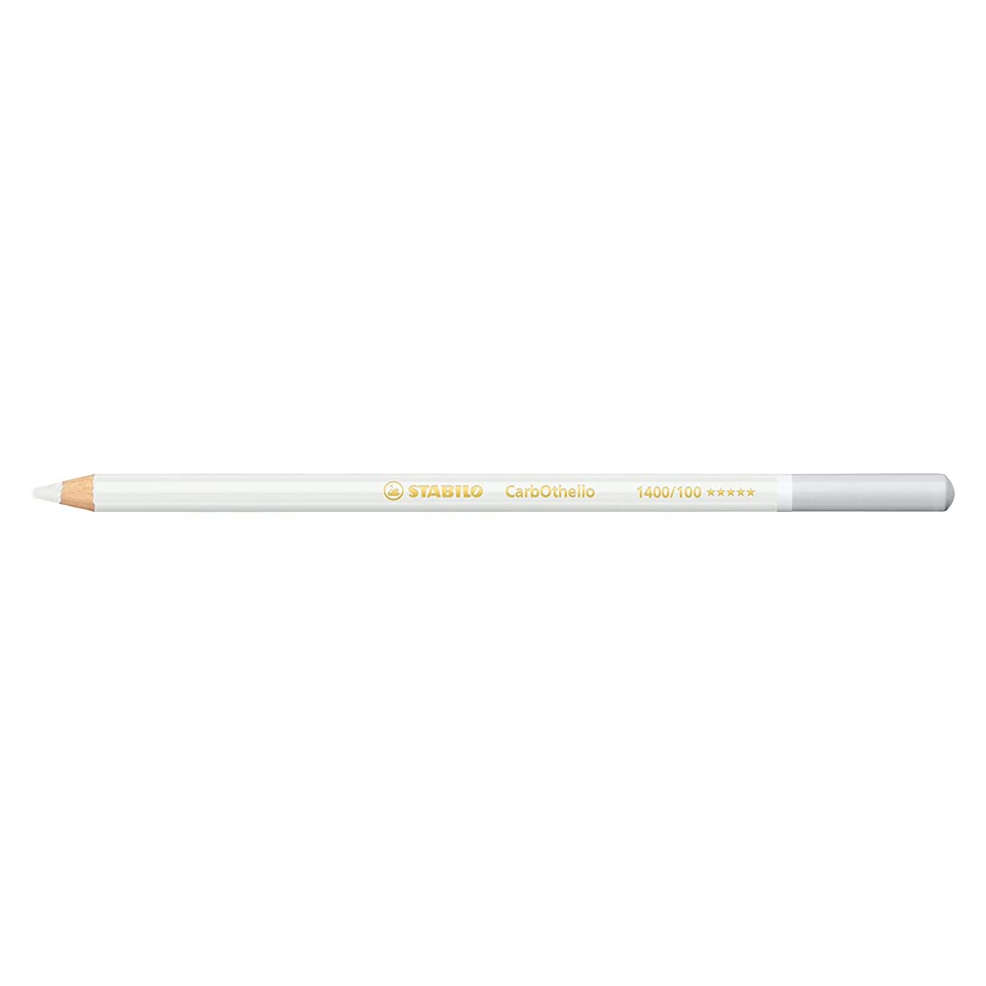 Stabilo CarbOthello Chalk-Pastel Colored Pencil, 4.4 mm - Titanium White