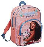 Disney Sac à dos Moana pour filles - Grand sac d'école, de voyage, de sport avec porte-boisson, rose, Taille unique, Sac à dos