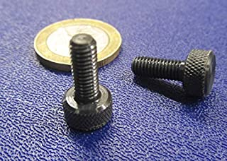 Raised Knurled-Head Thumb Screw Thread Size #10-32 FastenerParts Steel