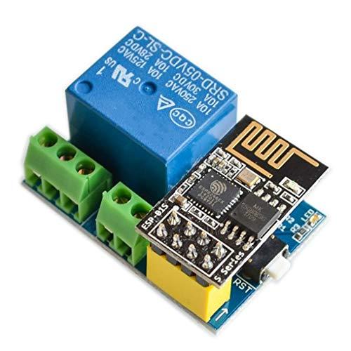 heacker ESP8266 ESP-01S 5V WiFi Módulo de relé Cosas hogar...