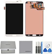 TheCoolCube Full LCD Display Touch Screen Digitizer Assembly Replacement for Samsung Galaxy Note 3 N900 N900v N900t with Tools (White)
