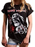 MAKAYA Oversize Top Manga Corta - Night Watch Killer - Camiseta para Mujer Musica Negro L