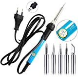 Corslet 60w Electric Soldering Iron with 5 Bits Adjustable Temperature Soldering Tool