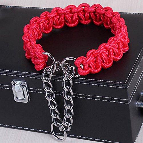 Novamay Braided Martingale Heavy Duty Nylon Dog Collar