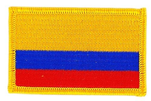 Aufnäher Patch bestickt, Kolumbien Flagge colombien BW backpack zum Aufbügeln
