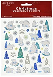 Multi-Colored Stickers-Glitter Polar Bears
