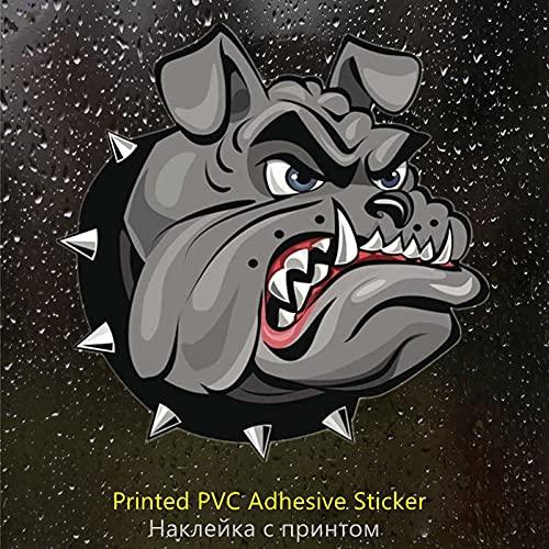 A/X Sticker de Carro PVC-0034# Calcomanía autoadhesiva Bulldog Etiqueta engomada del Coche Decoraciones automáticas Impermeables en la Ventana Trasera del Parachoques