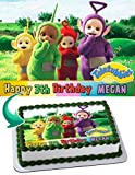 Teletubbies Edible Image Cake Topper Party Personalized 1/4 Sheet