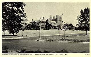 Towers Of Robert S. Brookings Hall, Washington University St. Louis, Missouri Original Vintage Postcard