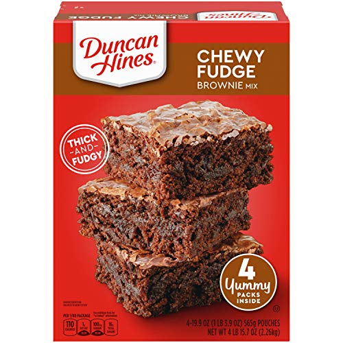 Duncan Hines Chewy Fudge Brownie Mix, 4 - 19.9 OZ Pouches, 79.6 Ounce