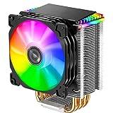 CR1400 PWM 4Pin 12V PC LED Ventilador de refrigeración RGB 4...