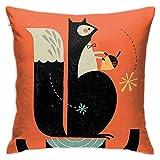 Ardilla Blog Throw Pillow Covers Funda de Almohada Funda de cojín para decoración de Oficina en casa Cuadrado 40X40 Cm