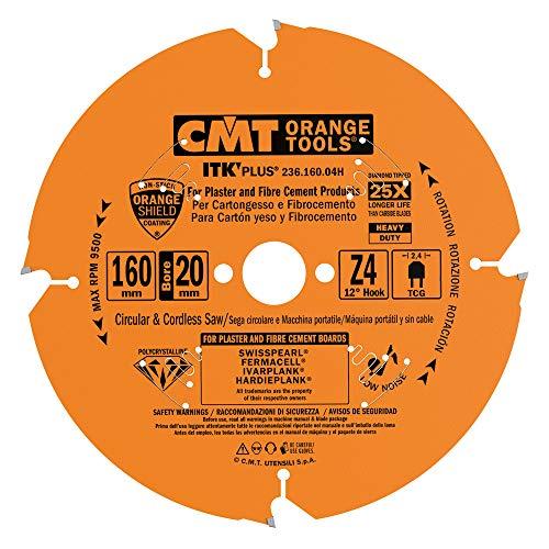 CMT Orange Tools 236,160,04H Scie circulaire pour les matières abrasifs d 160 x 2,2 x 20 dp z4
