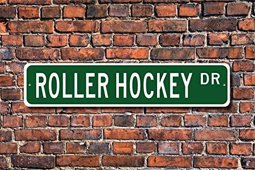 Unnow Rollhockey, Rollhockey-Schild, Rollhockey-Fan, Rollhockey-Teilnehmer Geschenk, Hockey-Liebhaber, personalisierbares Straßenschild, hochwertiges Metallschild
