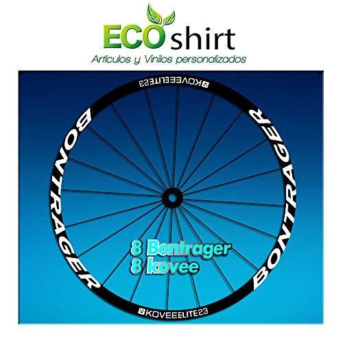 Ecoshirt R0-JRJO-EZAL Stickers Bontrager Kovee Elite 23 Am208 Wheel Aufkleber Jante Rim, Blanc