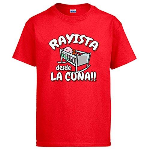 Diver Camisetas Camiseta Rayista Desde la Cuna Rayo Vallecano fútbol - Rojo, 3-4 años
