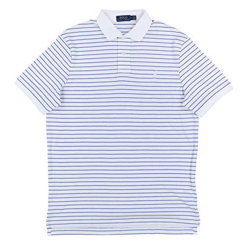 Polo Ralph Lauren Mens Interlock Polo Shirt (L, White)