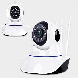 HHORD Cámaras De Seguridad Caseras Bebé De La Cámara La Cámara HD 1080P WiFi Inalámbrico para Mascotas/Niñera Alertas De Movimiento Libre Telecámara HD Rotazione A 360 Gradi