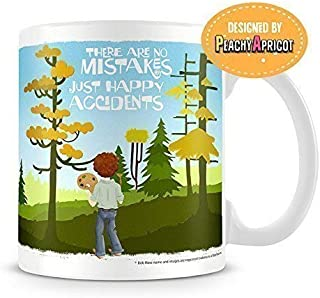 Bob Ross Mug - Happy Accidents - Officially Licensed Coffee Cup