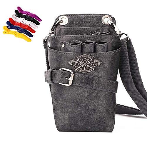WANGXN Leder Friseur Schere Holster Tasche Scheren Tasche Mit Gürtel Friseur Werkzeugtasche,Color4