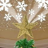 YOCUBY decorazioni albero di natale,Puntale per albero di Natale con stella...
