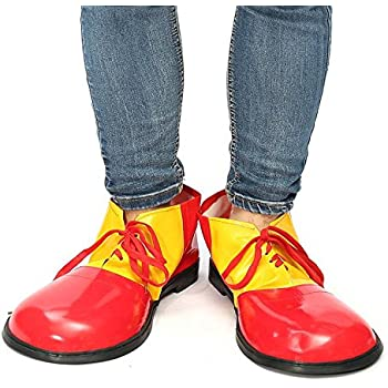 MizHome Unisex Adult Jumbo Large Clown Shoes Deluxe Halloween Costume Accessories One Size