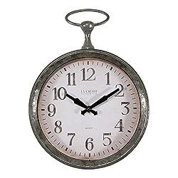 La Crosse 404-3828 9-inch Round Pocket Watch Analog Wall Clock