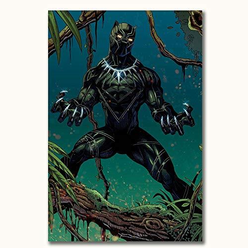 FOCLKEDS Poster Black Panther Movie Poster Avengers Infinity War Black Panther 3D dipinto poster per il bagno 50 x 80 cm camera da letto soggiorno decorazione casa senza cornice