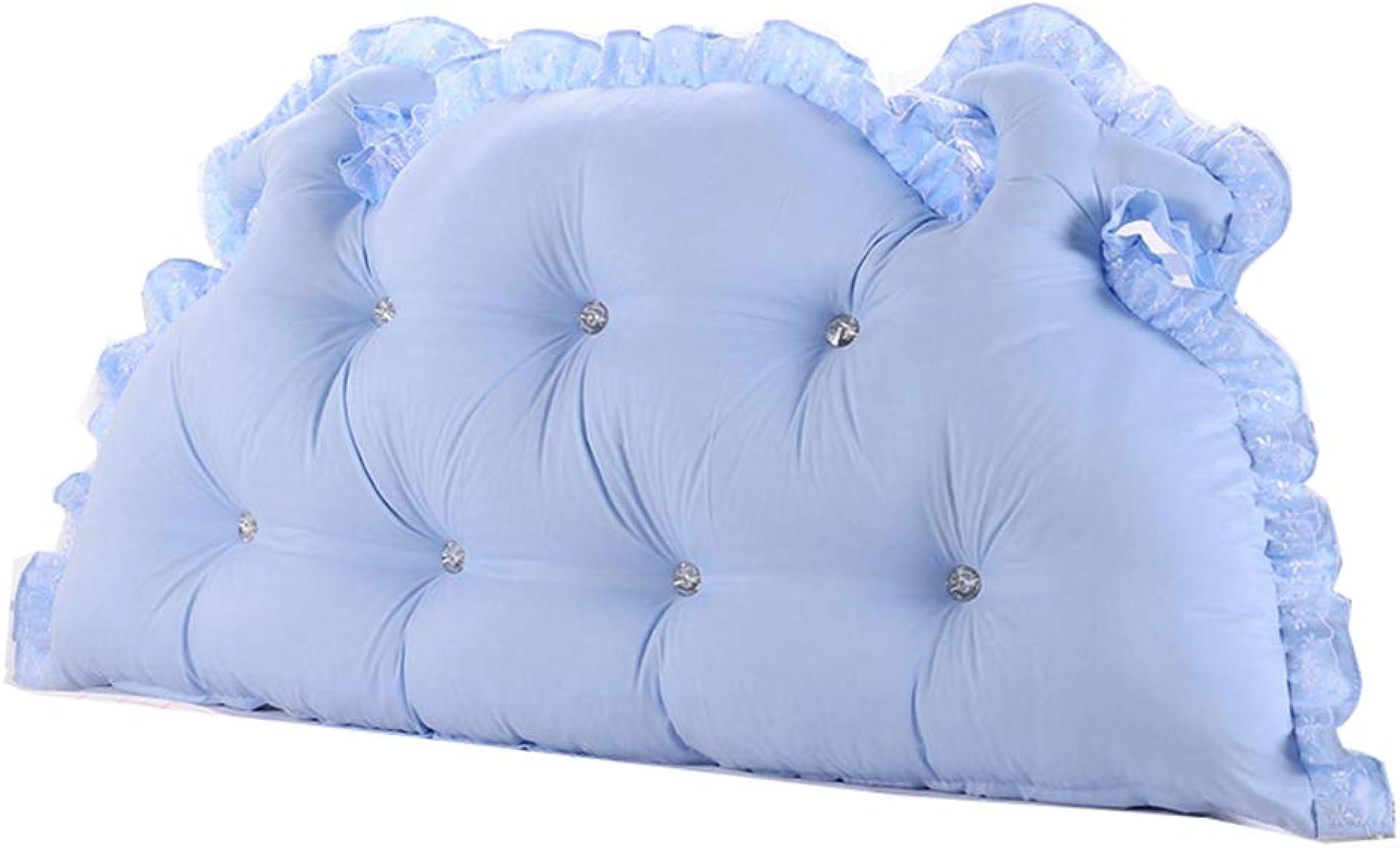 XUEYAN Coussin de lit coréen lit de Princesse Pastorale Dossier lit Double Long Oreiller Amovible et Lavable (Couleur   A, Taille   120  65cm)