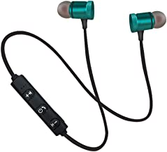 Wireless Earbuds Magneitc Bluetooth Sport Headphones HiFi Stereo Noise Cancelling Earphones with Microphone Sweatproof Headsets Compatible with iPhone 6/6S/7/8/x for Running Workout Gym (Green)