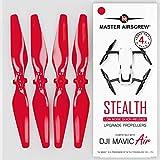 Master Airscrew Hélices modernisées MAS pour Drone DJI Mavic AIR de Couleur Rouge, Un kit de 4 pièces