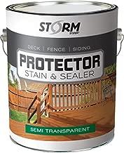 STORM SYSTEM Storm Protector Penetrating Sealer & Stain Protector - Deck Protector, Fence Protector, Cedartone Stain - 291111-1 Gallon, Cedartone