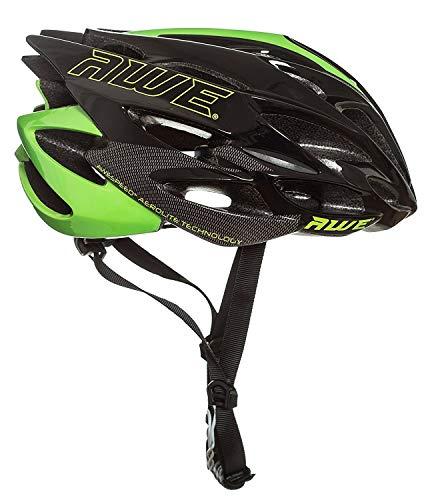 AWE AWESpeed Sostituzione di Crash Gratis 5 Anni * nello Stampo di Ciclismo su Strada Uomini Adulti Casco Nero Verde 55-58cm