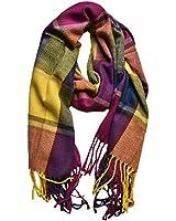 Outrip Womens Big Grid Winter Warm Lattice Large Scarf Stylish Plaid Blanket Long Shawl Wrap (KB18)(Size: M)