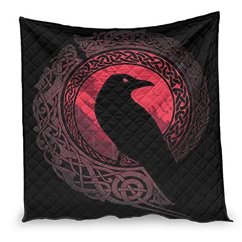 OwlOwlfan Viking Ravens In Norse Super Soft Easy Care Comfort - Colcha para primavera, verano, otoño, temporada blanca, 180 x 200 cm