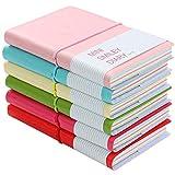 6 Pezzi Mini Taccuino Portable Paper Note Book Diario con Gomma Band Design Assortiti Ottimo per Appunti Pittura Graffiti e Registrare