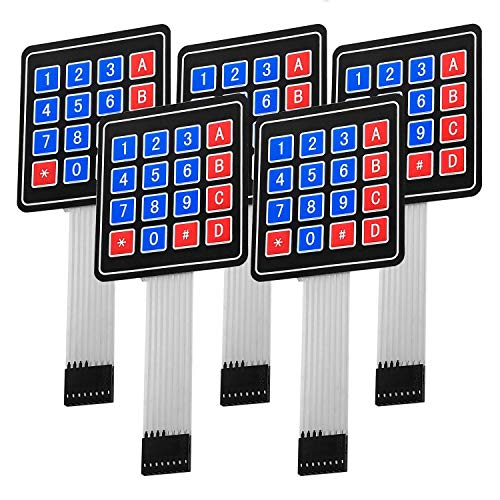 AZDelivery 5 x 4x4 Matrix Array Keypad Tastenfeld Tastatur kompatibel mit Arduino inklusive eBook!