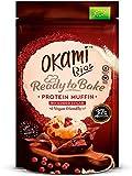 Okami Bio - Mezcla para Magdalenas/Muffins Proteicos | Alto Contenido en Proteína Vegana de Guisante | Solo 72kcal por Muffin | Sin Gluten, sin Lactosa, sin Azúcares Añadidos, 100% Veganos | 135gr