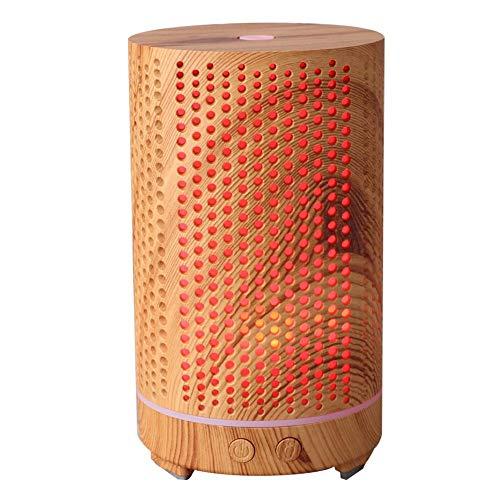 Humidificador de 200 ml, humidificador de aire de grano de madera, práctica sala de estar con luz nocturna para(110~240V, European standard)