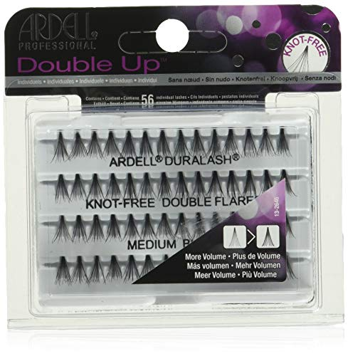 ARDELL Professional Double Individuals Knot-Free Double Flares - Medium Black