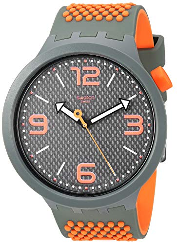 Swatch Big Bold Quartz Silicone Strap, Green, 24 Casual Watch (Model: SO27M101)