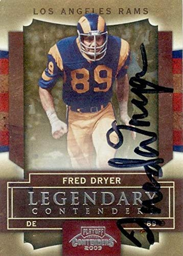 Fred Dryer autographed football card (Los Angeles Rams, Hunter) 2009 Panini Playoff Contenders #33 - NFL Autographed Football Cards