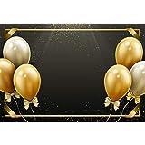 Cassisy 2,2x1,5m Vinilo Cumpleaños Telon de Fondo Decoracion De Globos De Oro Marco de la Foto Lentejuelas Sparkle Las Cintas Fondos para Fotografia Party Infantil Photo Studio Props Photo Booth