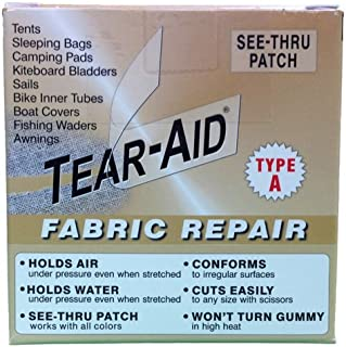 Tear-Aid Repair Type A Fabric Repair Kit (2 Pack), 3 x 5'