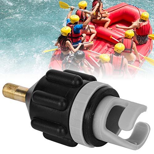 Convertidor de válvula de aire de compresor de adaptador de bomba de SUP inflable de 2 piezas - Adaptador de válvula de aire de cama de barco inflable Adaptador de bomba de aire convencional(Negro)