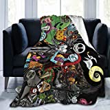 Hidreama The Nightmare Before Christmas Fleece Throw Blanket Soft and Warm Flannel Blanket for Couch Sofa,Bed 50'' x40