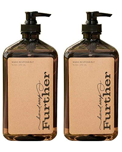 Further Glycerin Hand Soap, 16 Fluid Ounces (Pack of 2) - Sustainable, Natural Liquid Soap