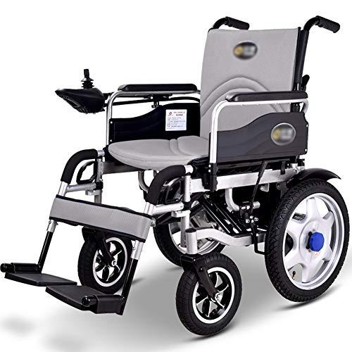 ZXMDP Elektrische rolstoel, licht en vouwframe, Atendant aandrijving, rolstoel, draagbare Transit Travel Chairfor, geschikt voor ouderen, gehandicapten, 12 A lithium batterij